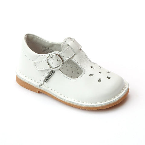 L'Amour T-Strap Leather Mary Jane - White 751