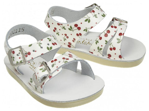 Sun San Sea Wee Salt Water Sandals - Cherry Print