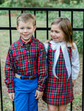 Wales Plaid Liza Dress w/ Blouse - Bailey Boys J Bailey Fall 2019 5490