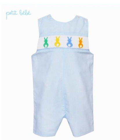 Cottontails Jon Jon in Light Blue Stripe - Petit Bebe Spring 2019 809
