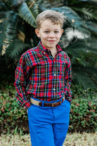 Roscoe Button Down Shirt in Wales Plaid - Bailey Boys J Bailey Fall 2019 5484