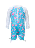 Flamingo Girls Infant Long Sleeve Sunsuit SnapperRock