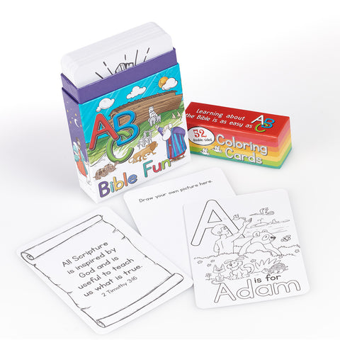 Coloring Cards for Kids: ABC Bible Fun CBX012