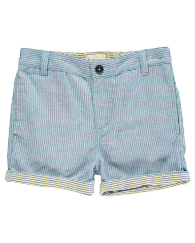 Blue Striped Turn Up Shorts  - Me & Henry 168A