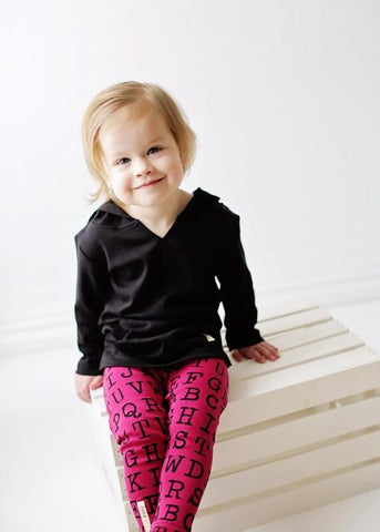 L'ovedBaby Legging - Magenta Alphabet Make a Statement