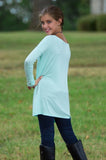 Piko Long Sleeve Tween Top - Mint