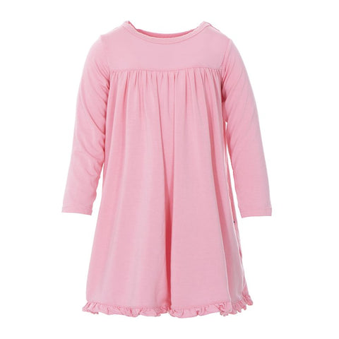 Basic Classic LS Swing Dress in Lotus - Kickee Pants