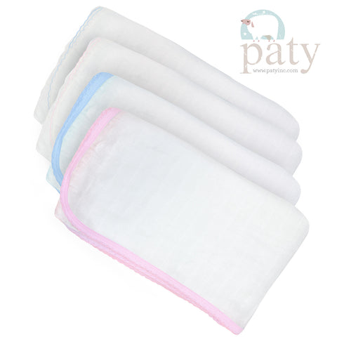 White Muslin Blanket / Cotton Trim -  Paty Inc. M101J