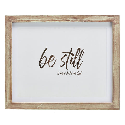 Be Still and Know That I am God Wall Plaque - Psalm 46:10 PLA037