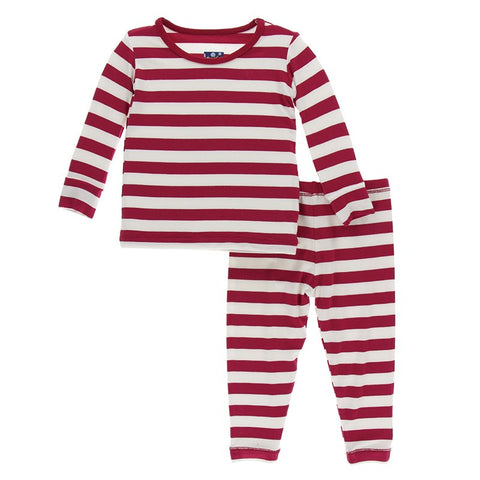 Candy Cane Striped 2019 Long Sleeve Pajama Set - Kickee Pants Holiday 2019
