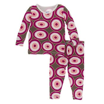 Falcon Agate Slices LS Pajama Set Kickee Pants