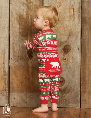 Beary X-Mas Infant Unionsuit - Little Blue House By: Hatley