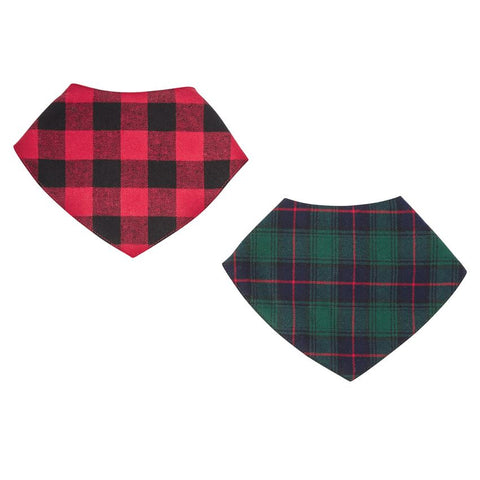 Alpine Village Bandana Bibs Set - Mudpie Fall 2019
