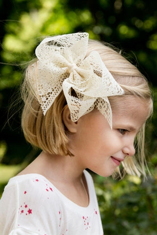 Classic 5-inch Lace Hair Bow