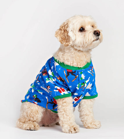 Ski Dogs Blue Dog Pajama - Little Blue House By: Hatley