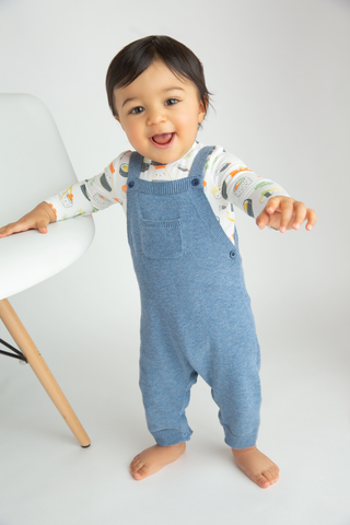 Knit Overall in Blue Heather - Angel Dear Fall 2019 5336