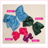 Basic 6-inch Solid Color Hair Bow