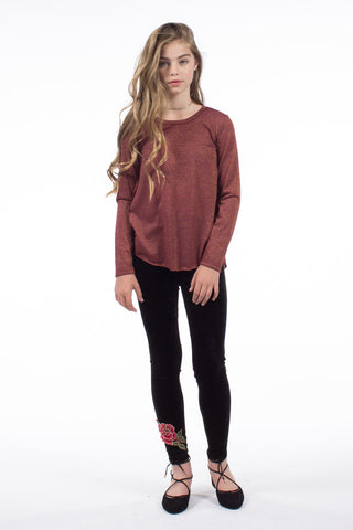 Calia L/S Top in Burgundy GKT010  - PPLA