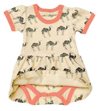 Camel Dress w/ Flamingo - Cat & Dogma Spring 2018
