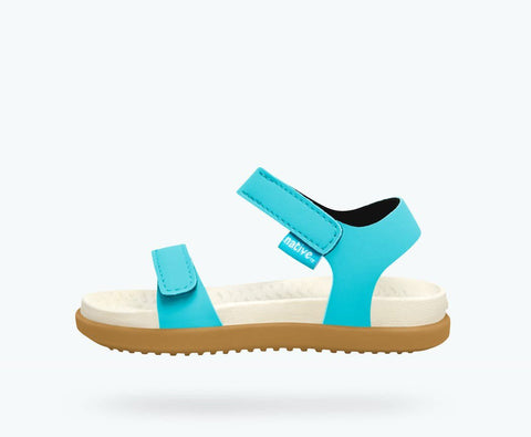 Native Charley Sandal -  Surfer Blue/Bone White/Toffee Brown