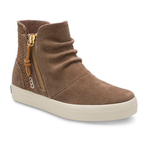 Big Kid's Crest Zone High Top Sneaker in Chestnut - Sperry