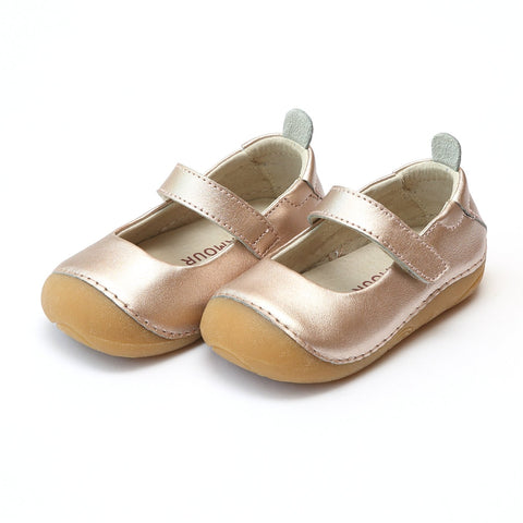 Leather Classic Mary Jane in Copper Metallic / Champagne - Angel Baby Shoe 485 Emily