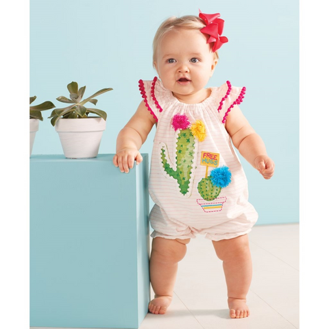 Mudpie Baby Clothes Interesting Desert Bloom PomPom Bubble Mud Pie Spring 60 60 Girls A Dog