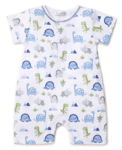Boy Dino Print Kickee Pants Snap Footie Fall 1-2018