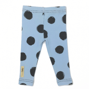 L'ovedBaby Legging - Moonbeam/Light Gray la-di-dots