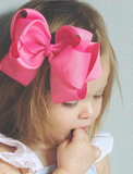 Double Stacked Basic 6-inch Solid Color Hair Bow