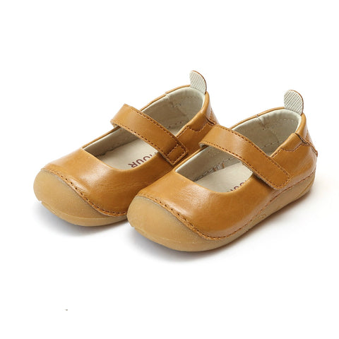 Leather Classic Mary Jane in Mustard - Angel Baby Shoe 485 Emily