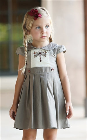 Dragonfly Linen Dress 170 - Evie's Closet