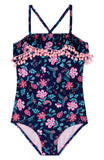 Floral Field One Piece Swimsuit - Gossip Girl 101191