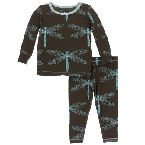 Giant Dragonfly Long Sleeve Pajama Set - Kickee Pants