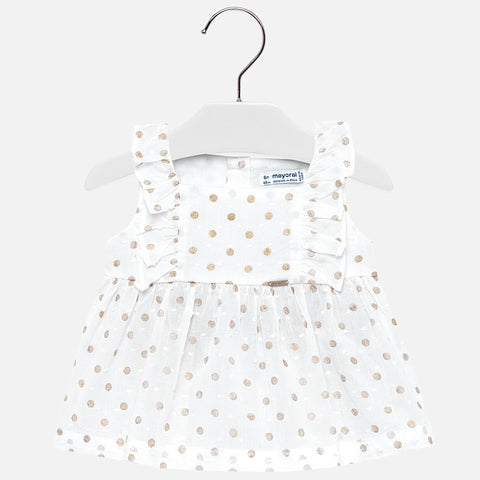 Blouse For Girl in Gold Polka Dot: Mayoral 1110 Spring 2019
