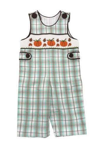 Harvest Time Smocked Boys Plaid Longall - Banana Split Fall 2018 244