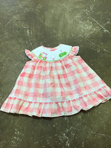 Girls Hole in One Smocked Dress Three Sisters  733