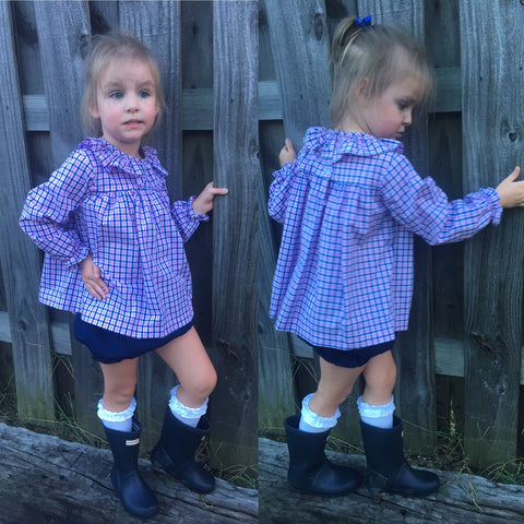 Plaid Bloomer Set - Anvy Kids Fall 2018 - 6118