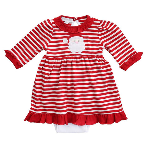 Santa Applique Dress Set Infant - Magnolia Baby Fall 2019  5498