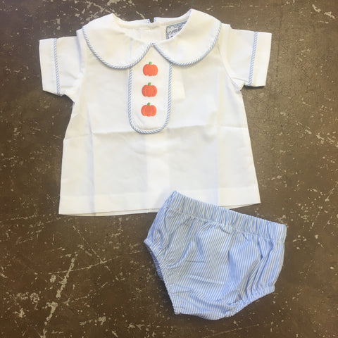 Pumpkin Patch Boys Bloomer Set - Three Sisters Fall 2019 5427