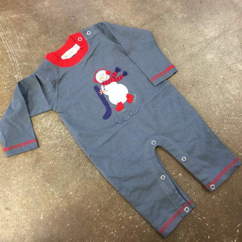 Snowman Long Sleeve Romper - Luigi Kids by: Acvisa 5447