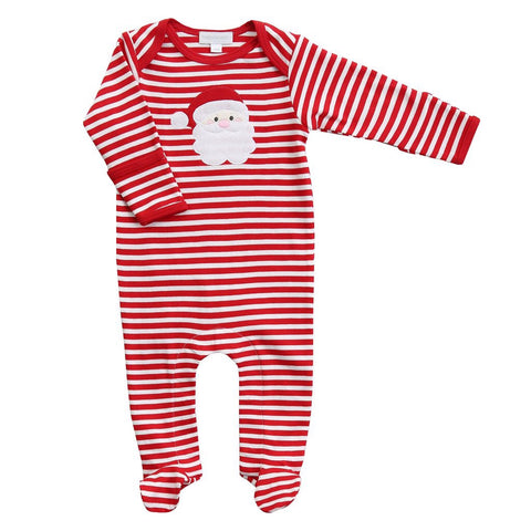 Santa Applique Footie - Magnolia Baby Fall 2019 5501