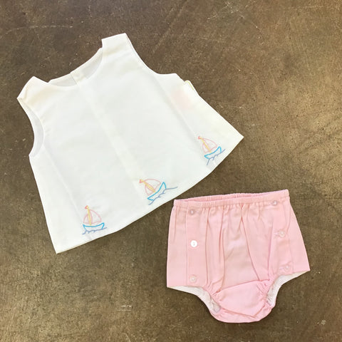 Pink Girl Sailboat Diaper Set - Baby Sen By: Remember Nguyen  110