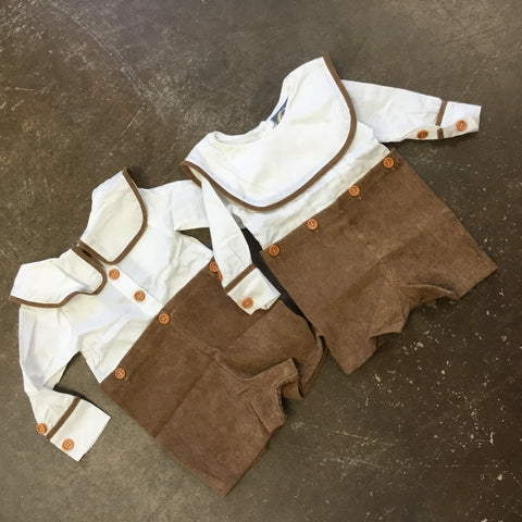 Will Button-On Shortall in Chestnut - Emma Jean Fall 2019  1079