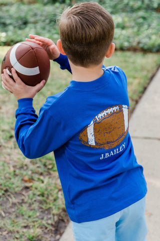 Logo L.S - T Shirt  J Bailey Fall 2019 Football in Royal
