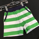 Wide Striped Shorts Bright Green/White & Navy Trim - Baby Luigi Spring 2019 213