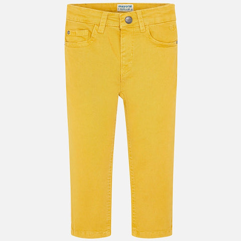 Regular Fit Pants in Butter - Mayoral Boy 41 - Fall 2019