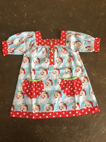 Dear Santa Yoke Dress w/ Pockets for Girls - Banana Split 409