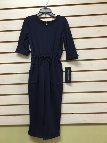 Girl Navy Jumpsuit Mabel & Honey K336 - Spring 2020