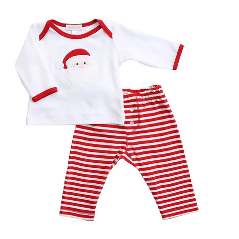 Santa Applique 2pc Pant Set - Magnolia Baby Fall 2019 5503